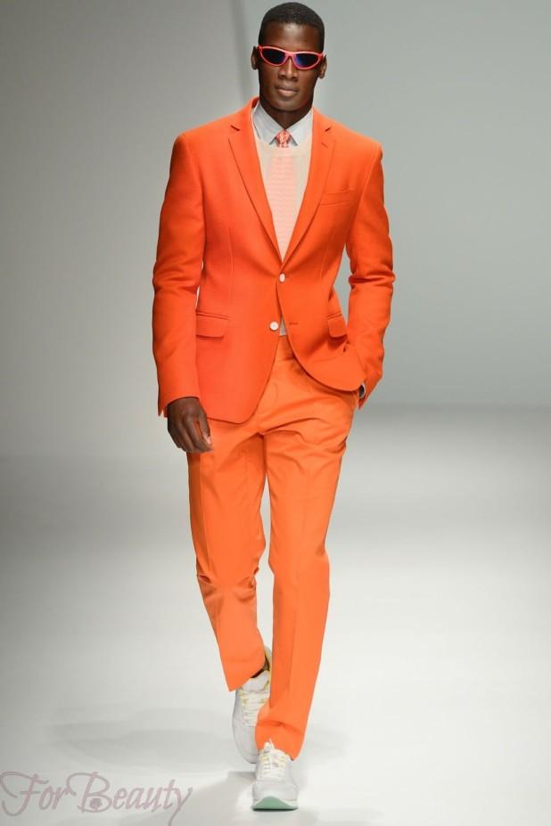 оранжевый костюм на выпускной для парня 2018
