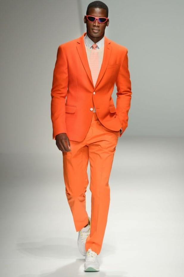 оранжевый костюм на выпускной для парня 2018-2019