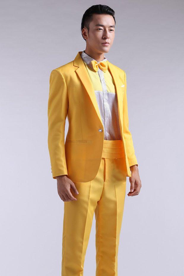 желтый костюм на выпускной для парня 2018-2019