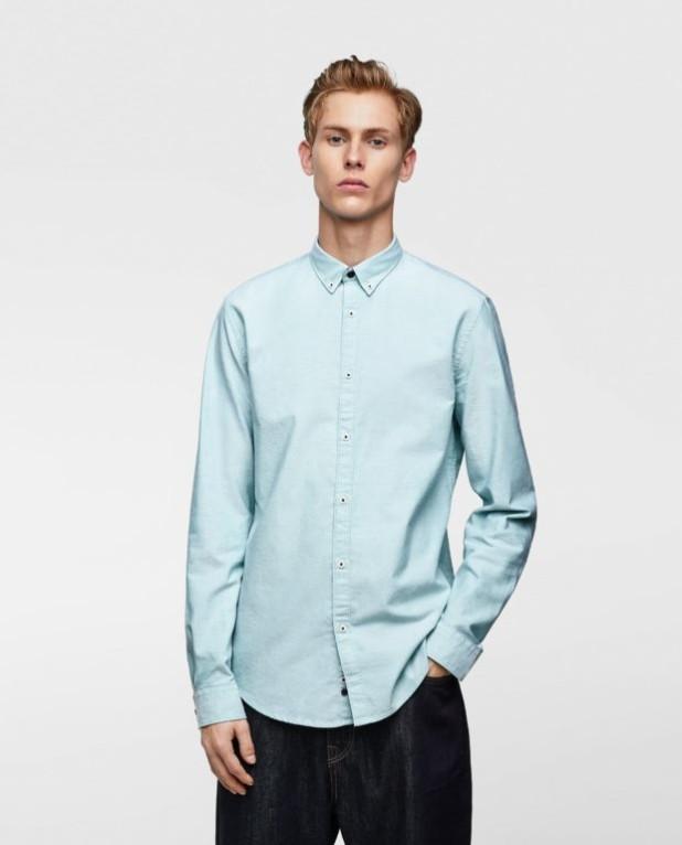голубая рубашка на выпускной для парня в 2018-2019 году