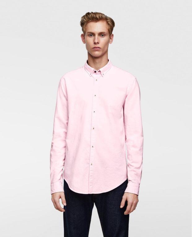 розовая рубашка на выпускной для парня в 2018-2019 году