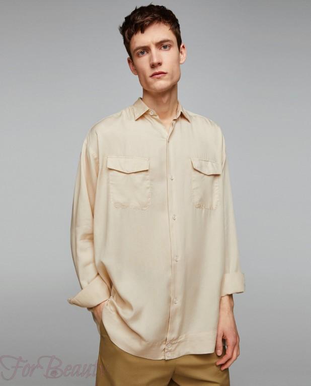 бежевая рубашка на выпускной для парня в 2018 году