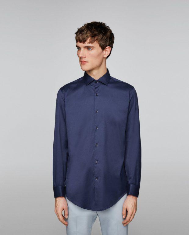синяя рубашка на выпускной для парня в 2018-2019 году