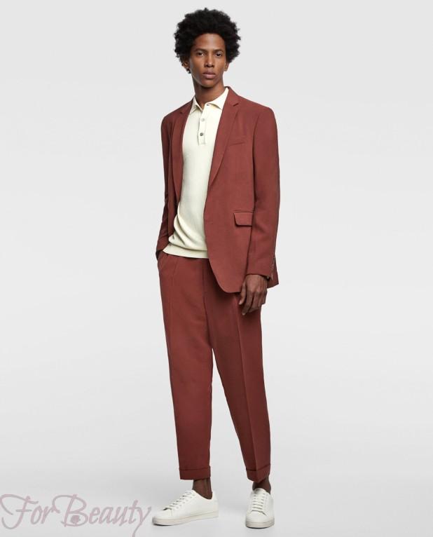 Классический коричневый костюм на выпускной для парня 2018
