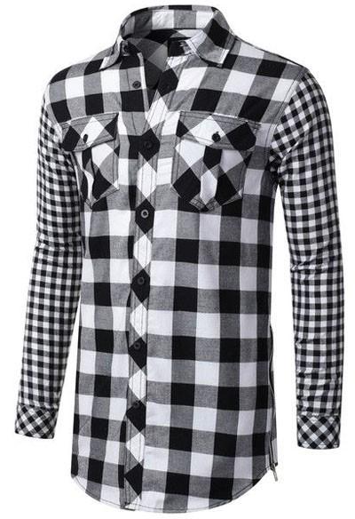 мужские рубашки мода 2018: в клетку фото