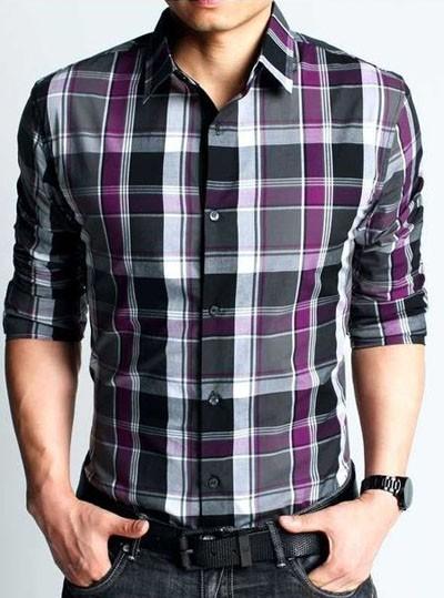 мужские рубашки 2018 2019: в клетку