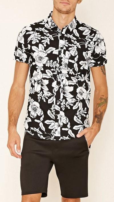 мужские рубашки 2018 мода: с коротким рукавом