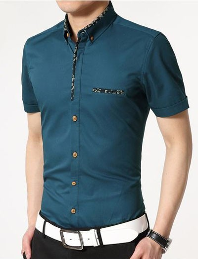 мужские рубашки 2018 мода: с коротким рукавом фото
