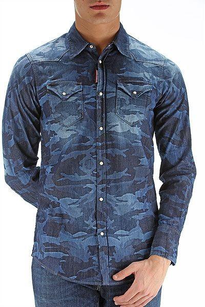 мужские рубашки 2018 года модные тенденции:милитарисиняя