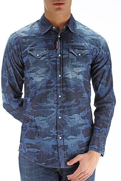 мужские рубашки:милитарисиняя