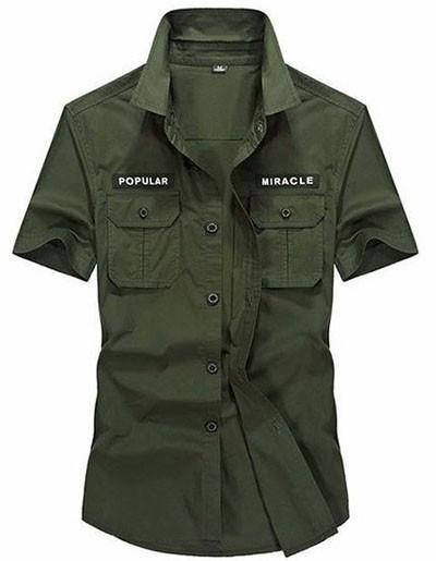 мужские рубашки 2018 года модные тенденции:милитарихаки