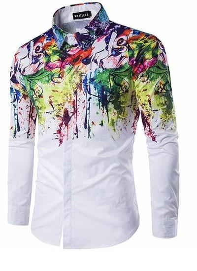 мужские рубашки мода 2018: спринтом