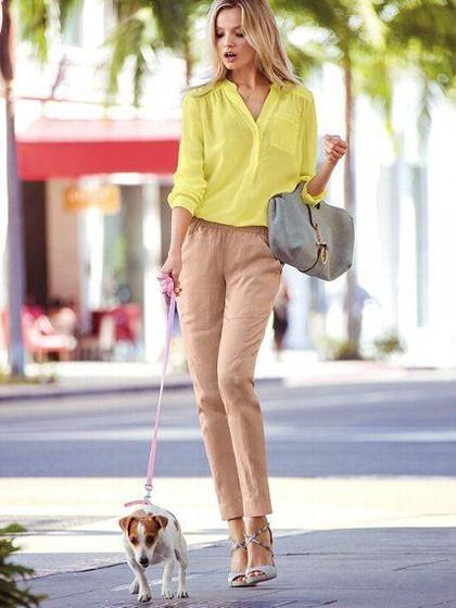 стильные образы на каждый день для девушек: светлые с брюками фото 2018-2019
