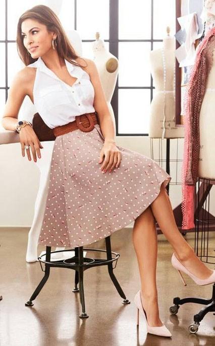 стильные образы на каждый день: красивые с юбками фото 2018-2019