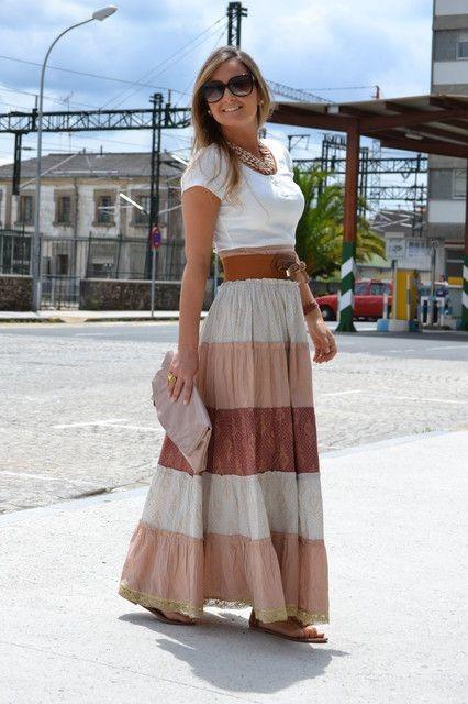 стильные образы на каждый день: юбка миди 2018-2019