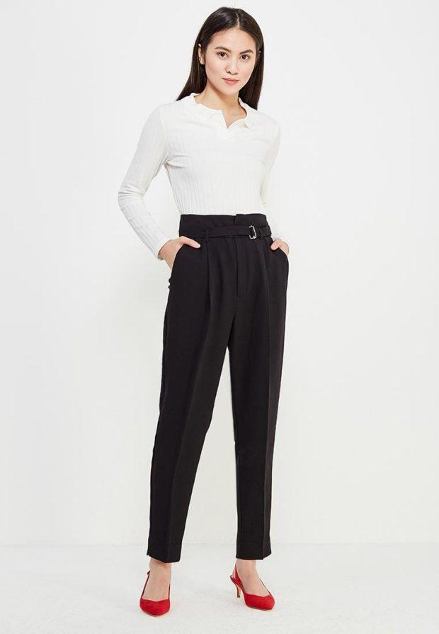 стильные образы на каждый день для девушек: с черными брюками
