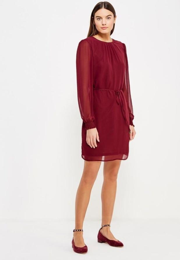 стильные образы на каждый день 2018-2019: с красным платьем