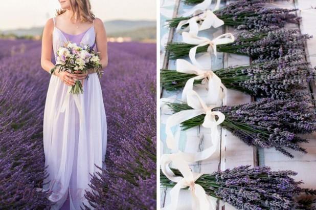 свадебная мода 2018 2019 тенденции фото: лавандовая