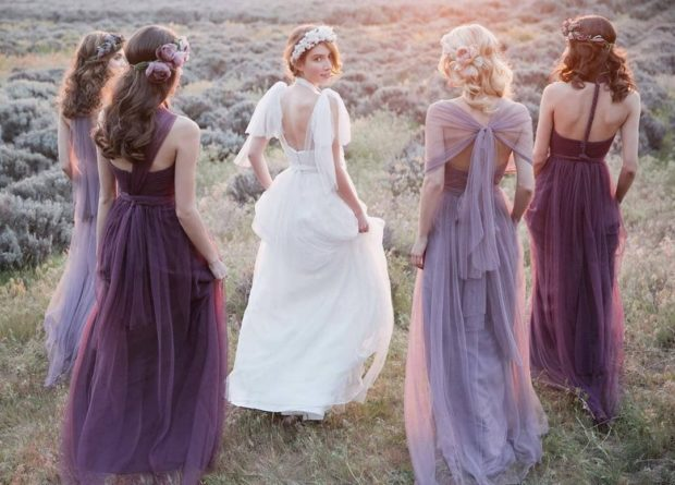 свадебная мода 2019 2020 тенденции фото: лавандовая