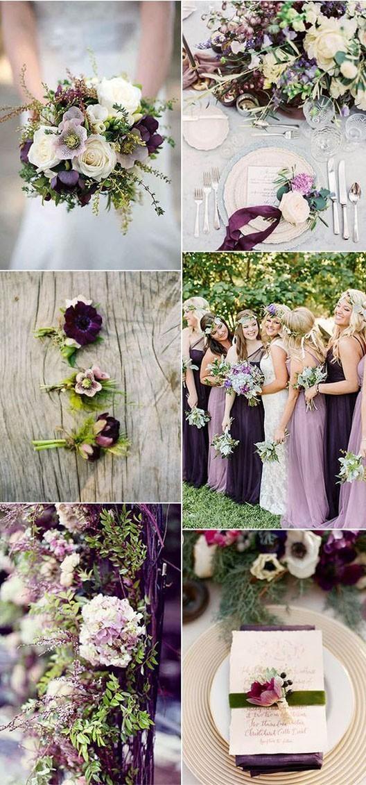 свадьба мода 2018 2019: цветовая палитра лавандовый