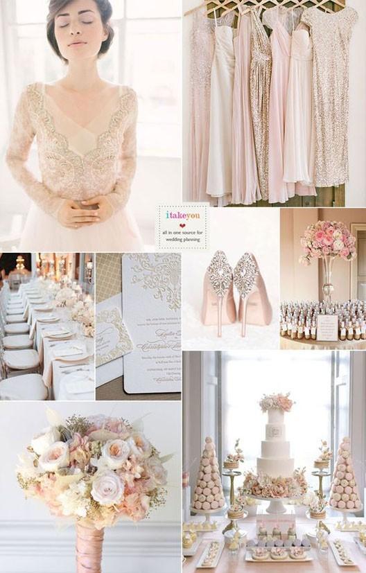 Свадебная мода 2018 2019 цветовая палитра шампань