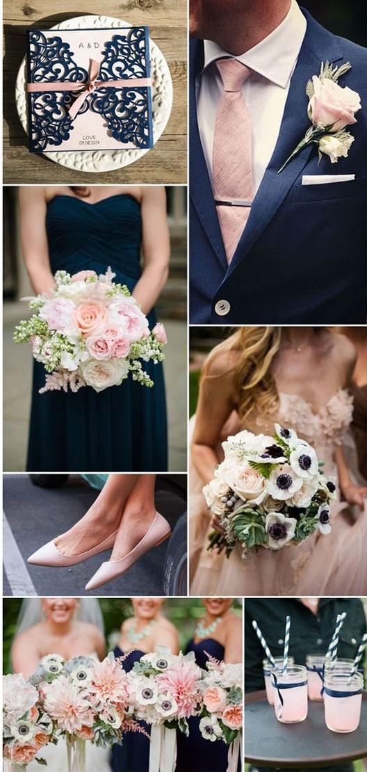 свадьба мода 2018 2019: цветовая палитра синий