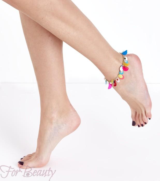 модный браслет на ногу 2018