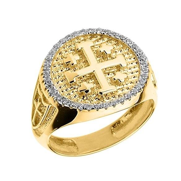 Перстень с крестом фото