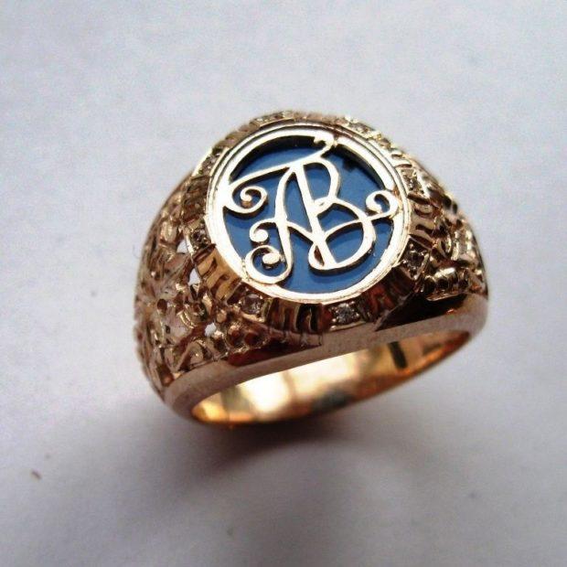 Перстень с инициалами