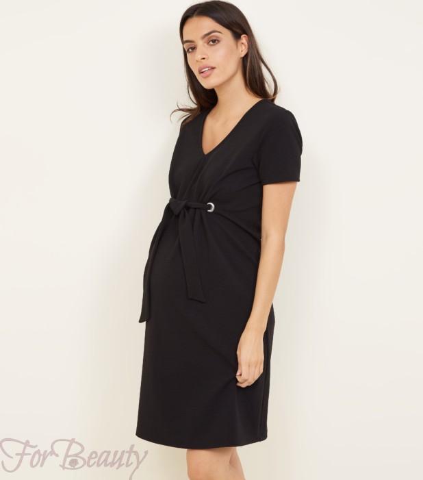 Модная платье с V-образным вырезом для беременных 2018