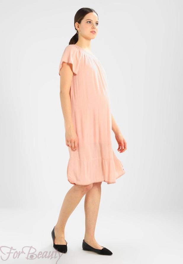 Легкое розовое платье для беременных 2018 фото