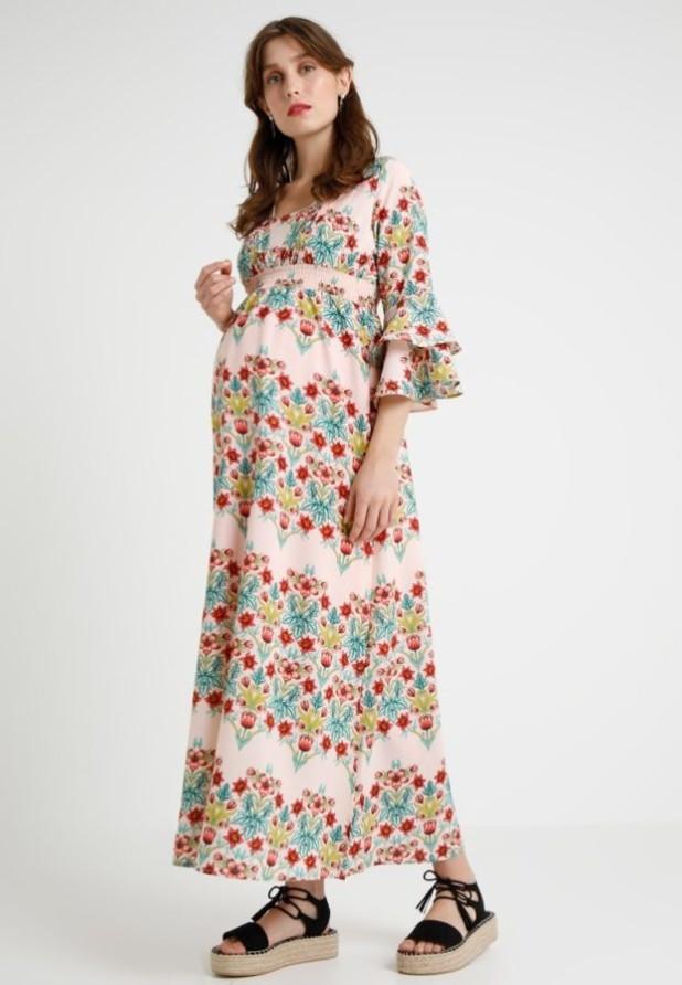 мода для беременных: Легкое принтованное платье