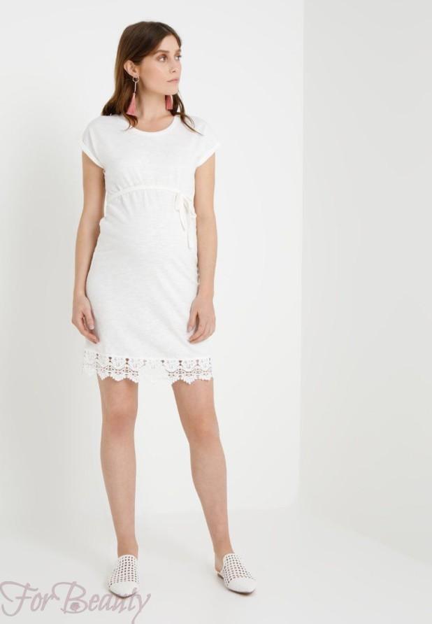 Легкое белое платье для беременных 2018 фото