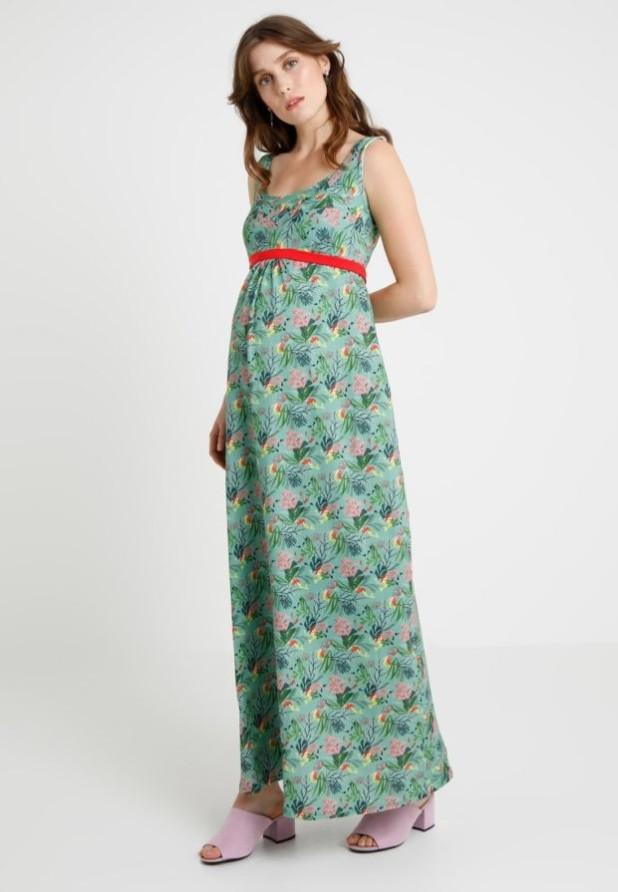 мода для беременных: Модное принтованное платье