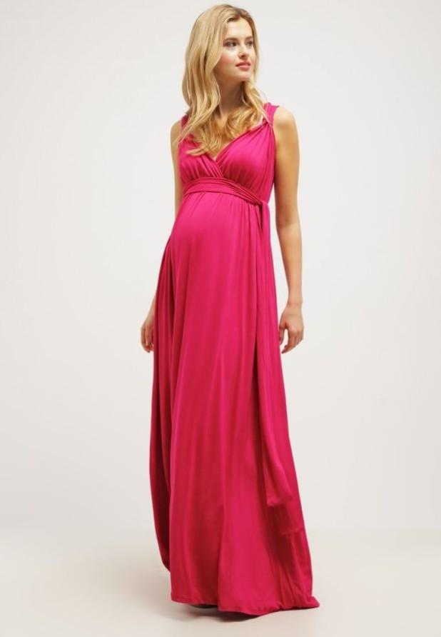 Розовое вечерние платья для беременных