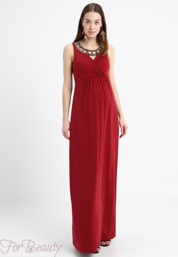 красное вечерние платья для беременных 2018