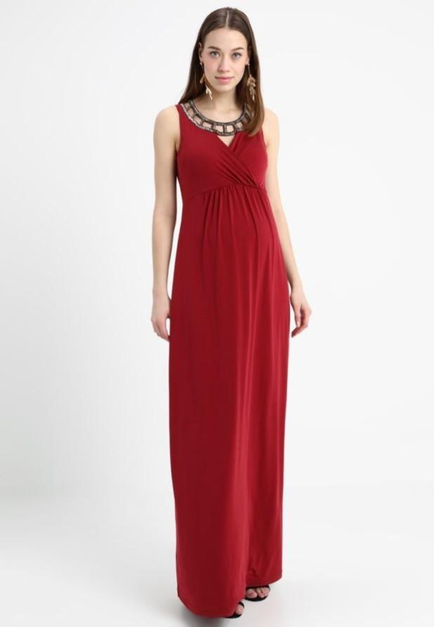 красное вечерние платья для беременных