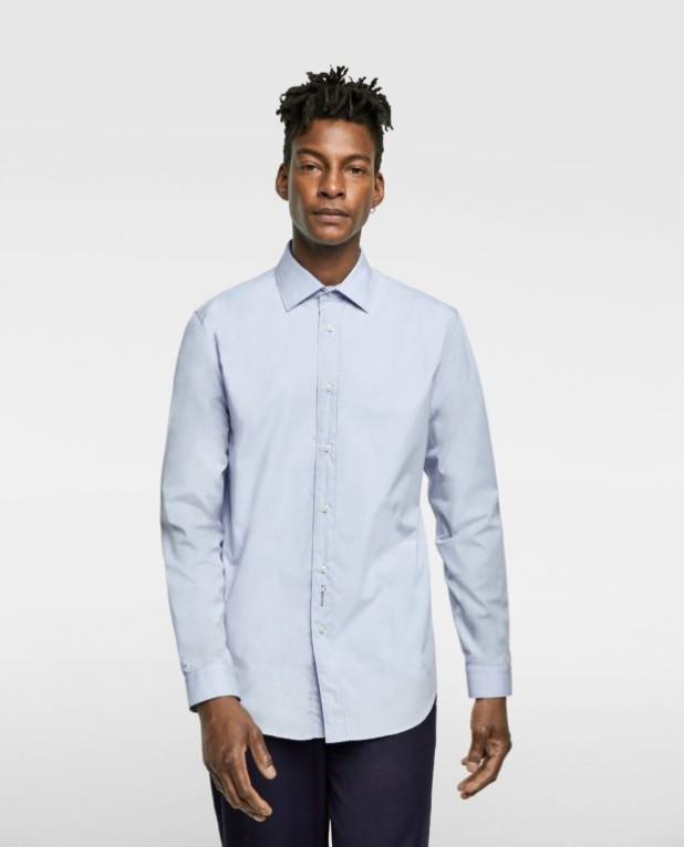 Классическая голубая рубашка для подростка