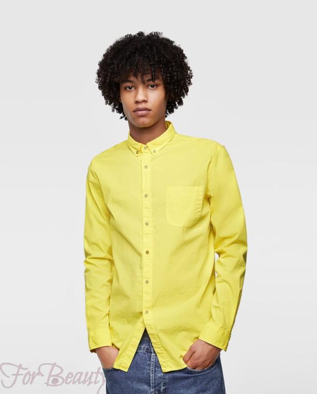 Классическая желтая рубашка для подростка