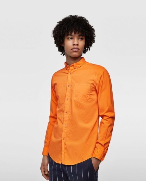 Классическая оранжевая рубашка для подростка
