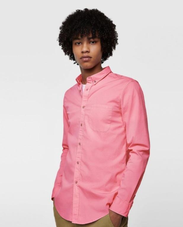 Классическая розовая рубашка для подростка