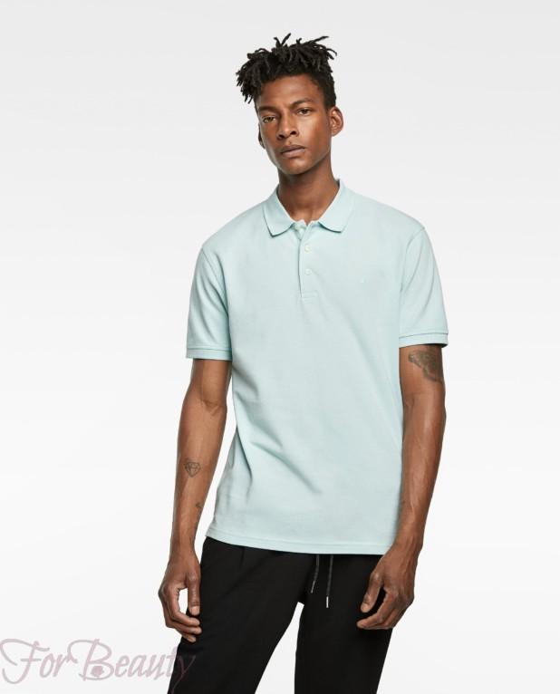 голубая рубашка-поло для подростка 2018