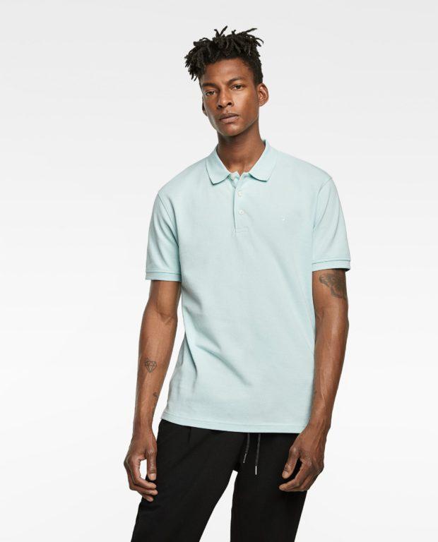 голубая рубашка-поло для подростка 2018-2019