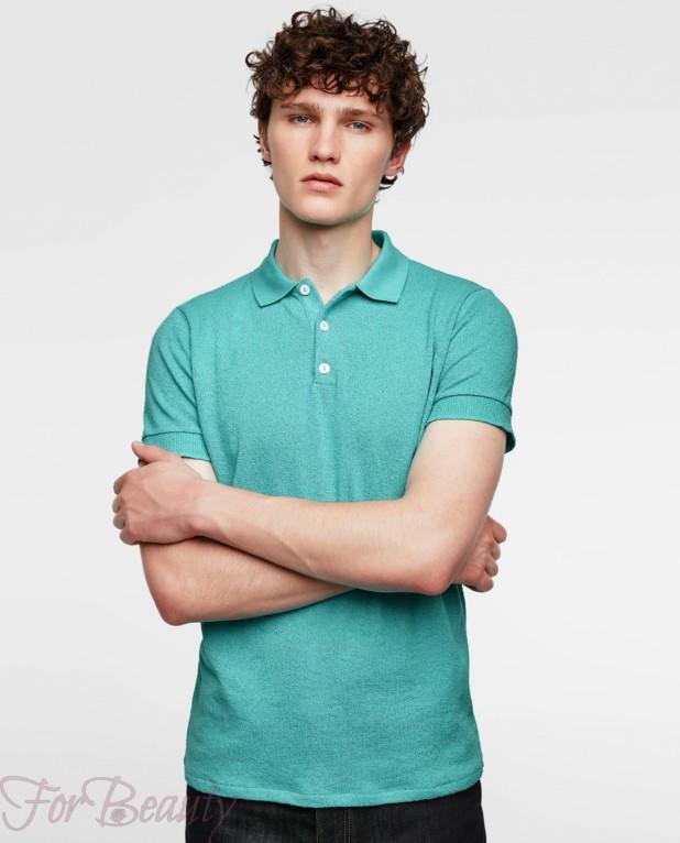 бирюзовая рубашка-поло для подростка 2018