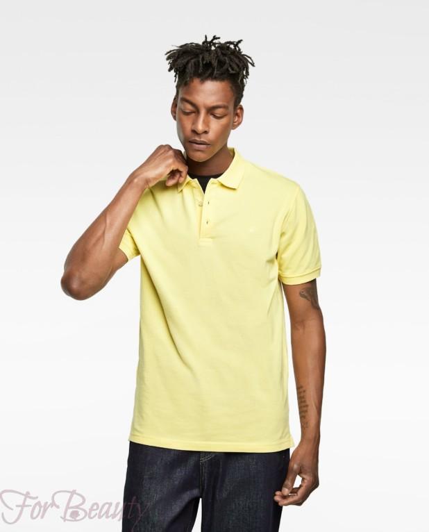 желтая рубашка-поло для подростка 2018