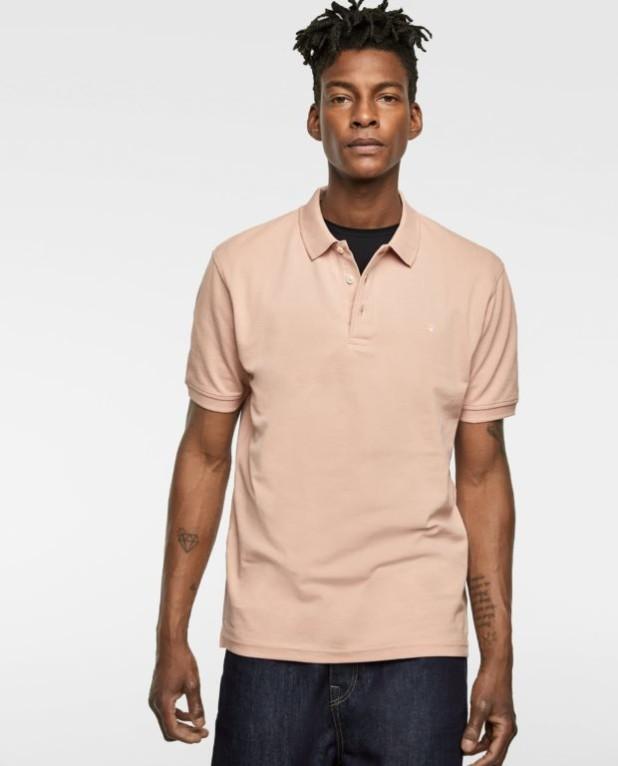 розовая рубашка-поло для подростка 2018-2019