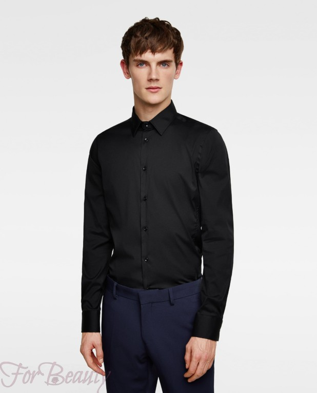 Приталенная рубашка для подростка 2018