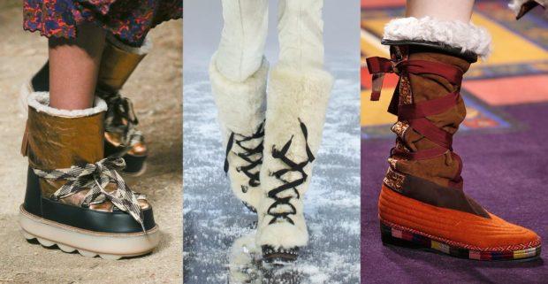 Модная обувь на танкетке осень-зима 2018-2019