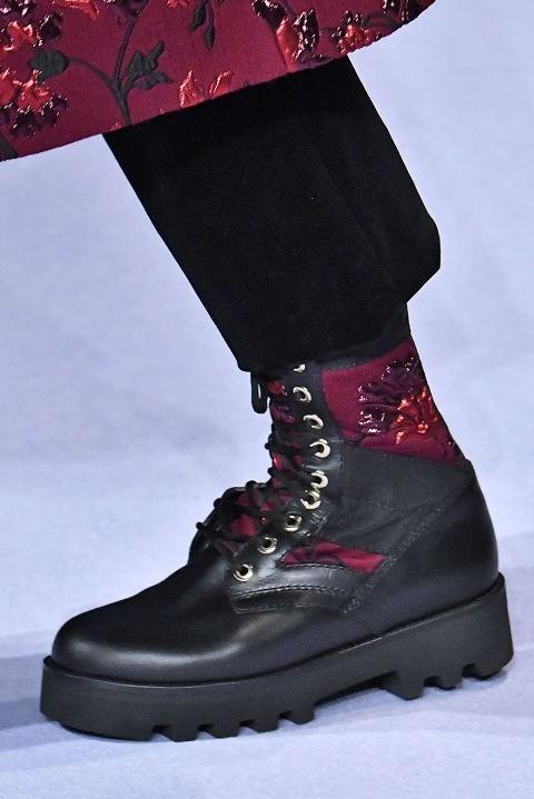 Модная грубая обувь с рифленой подошвой осень-зима 2018-2019 фото