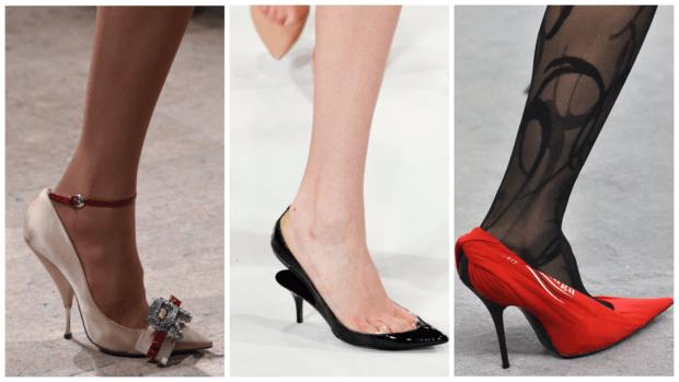 обувь на шпильке осень-зима 2018-2019